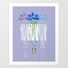 Iris Illustration Art Print