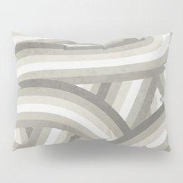 Retro Beige/Greige Stripe Pattern Pillow Sham