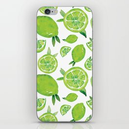 Zesty Lime Pattern iPhone Skin