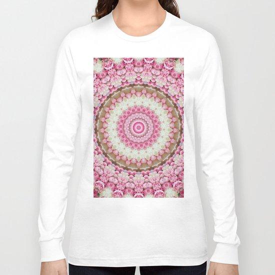 Pink Floral Mandala Long Sleeve T-shirt