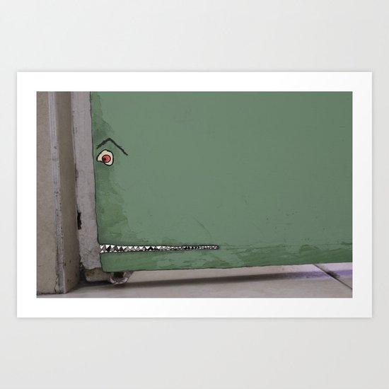 Door monster Art Print