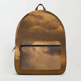 Abstract Clouds of Gold Backpack