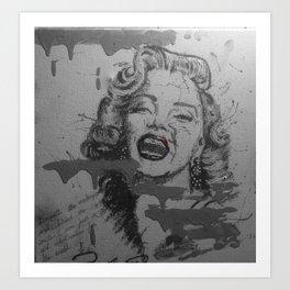Makeup Marilyn BW Art Print