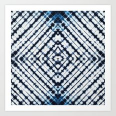 Diamonds Indigo Art Print