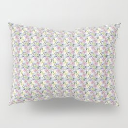 Roses & Forget Me Nots Yellow Pillow Sham