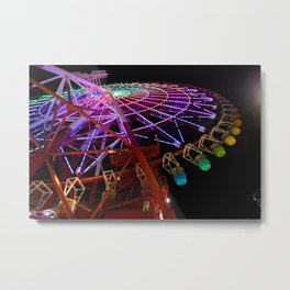 Rainbow Wheel Metal Print