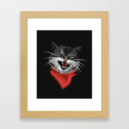 The Cat with a golden tooth Framed Art Print
