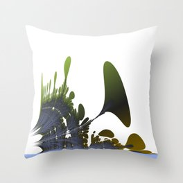 Abstract plants at riverside Throw Pillow