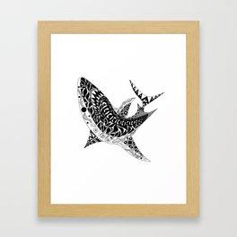 Mr Shark ecopop Framed Art Print
