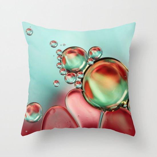Bubble Balance Throw Pillow