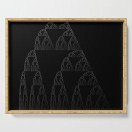 Sierpinski Triangle Rain// Nature Math Computer Programming Color Art Print Serving Tray