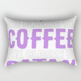 THE BLACKER THE COFFEE, THE CLOSER TO SATAN T-SHIRT Rectangular Pillow