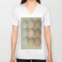 eggs V-neck T-shirts featuring Eggs by Pure Nature Photos