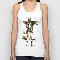 metal gear Tank Tops featuring Metal Gear Solid wolf by Hisham Al Riyami