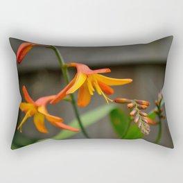 Sunny Crocosmia Rectangular Pillow