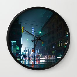 City Street (Color) Wall Clock