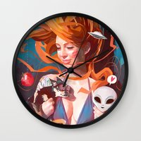 gravity Wall Clocks featuring GRAVITY by Javier G. Pacheco