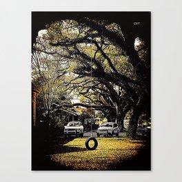 Tire Swing 1002 Canvas Print