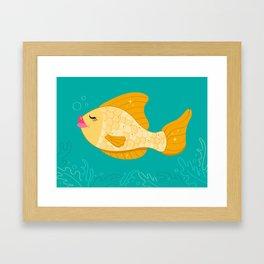 Glamorous Fish Framed Art Print
