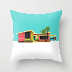 Mid Century House, Miami Throw Pillow