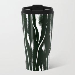 Black and White Paint Pattern Travel Mug