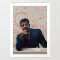 Neil Degrasse Tyson Portrait Art Print
