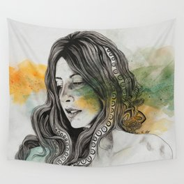 Heavensent (zentangle female portrait) Wall Tapestry