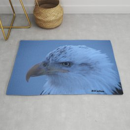 Young Eagle in Failing Light Rug