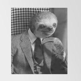 Gentleman Sloth #5 Throw Blanket
