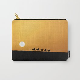Caravan in the desert during sunset Carry-All Pouch