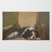 downton abbey Area & Throw Rugs featuring Abbey by Ambre Wallitsch