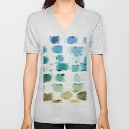 On the Beach Watercolor Painting Abstraction Unisex V-Neck