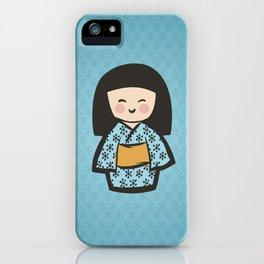 Geisha Dress Code (blue) iPhone Case