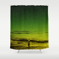 surfer Shower Curtains featuring Lost Surfer Star Series by Stoian Hitrov - Sto