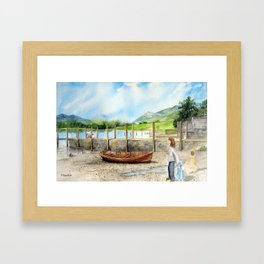 Day Out at Derwent Water Framed Art Print