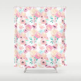 Indy Bloom Design Blush Baby Florals Shower Curtain