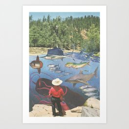 Big River Blues Art Print