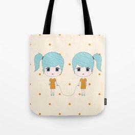 Gemini Girls Tote Bag