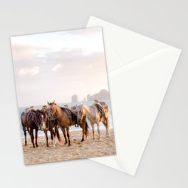 Horses and a horseman Stationery Cards