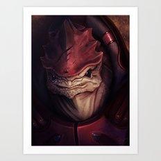 Mass Effect: Urdnot Wrex Art Print