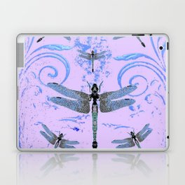 DELICATE BLUE & LILAC DRAGONFLIES ABSTRACT ART Laptop & iPad Skin