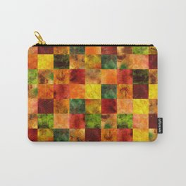 Autumn Leaves Digital Quilt Carry-All Pouch