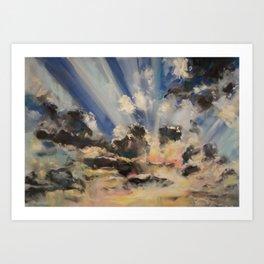Asheville Sunset Art Print