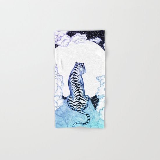 Ombre Tiger Moon Hand & Bath Towel