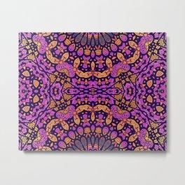 Magenta Pattern Metal Print