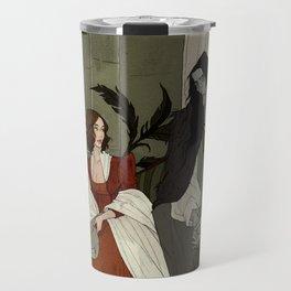 Mary Shelley and Her Creation Travel Mug