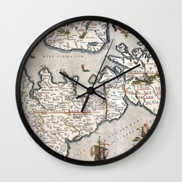 Map of The British Isles - Ortelius - 1595 Wall Clock