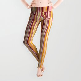 Orange strips pattern Leggings