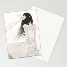 In the White Stationery Cards