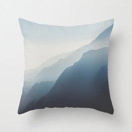 Blue Mountains Throw Pillow